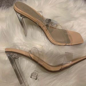 Clear heels